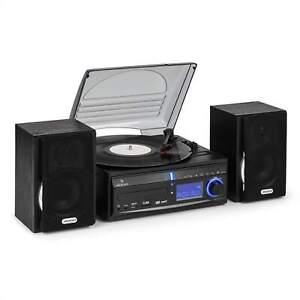 MINI CADENA TOCADISCOS SONIDO HIFI ESTEREO PLATO CD RADIO USB SD CONVIERTE A MP3