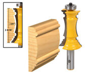 """2-1/2"""" Miter Frame Molding Router Bit - 1/2"""" Shank - Yonico 16166"""