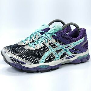 Asics Gel-Cumulus 16 Athletic Running Shoe Womens Size 9 T489N Black Purple