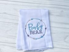 New Handmade Personalized Cloth Diaper Baby Bear Baby Boy Blue