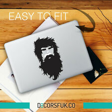 Hipster MacBook adesivi in vinile nero | Laptop Adesivi | MacBook Decalcomanie