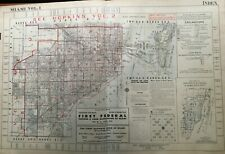 ORIGINAL 1947 MIAMI FLORIDA G.M. HOPKINS INDEX PAGE PLAT ATLAS MAP