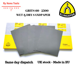 WET AND DRY SANDPAPER Sand Paper 60 - 2500 GRIT KLINGSPOR POLAND Mixed Grits