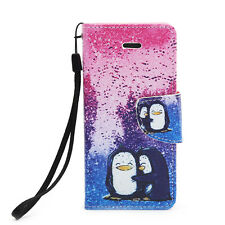 Magnetic Flip Leather Hard Skin Pouch Wallet Case Cover For Apple iPho