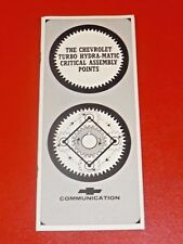 NOS GM 1965 Chevrolet TH400 overhauling & critical assembly illustrated booklet