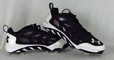 NEW Men's Under Armour Spine Low Metal Baseball Cleats Black White size 12