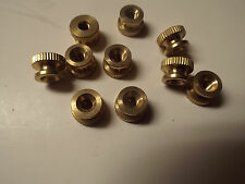 10 Brass spark plug nuts New 10/32 Vintage Spark Plug Hit and Miss