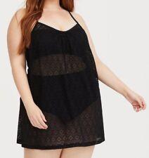 09f9e6ff59 Torrid Black Crochet Cover-up Dress 1x 14 16 #98628