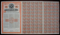 Republica Mexicana 5% Bond Ciudad de Oaxaca de Juarez 1910 uncancelled + coupons