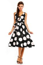 Gorgeous Retro Polka Dot Fit Flare Hourglass 50s Pin up Bombshell Party Dress