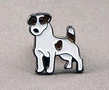 Metal Enamel Pin Badge Brooch Jack Russel Dog Canine Animal Mans Best Friend