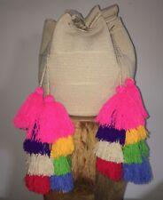 Exclusive Tier Multi Tassels MOCHILA WAYUU LARGE Double Short Strap Tote BAG