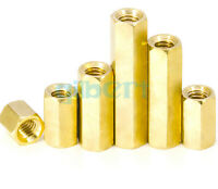 5pcs M6*1.0 Female Length 8-50mm Brass Hex Screw PCB Standoffs Hexagonal Spacers