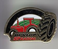 RARE PINS PIN'S .. AGRICULTURE TRACTEUR TRACTOR BTP PNEU TYRE DUNLOP RADIAL ~DC
