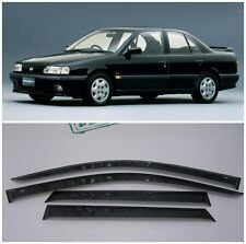 For Nissan Primera Sd P10 1990-1995 Window Visors Sun Rain Guard Vent Deflectors