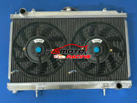 Alu Radiator + FAN For Nissan Silvia S14 S15 240SX 200SX SR20DET SR20 RPS13/PS13