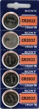 5pcs/lot SONY CR2032 3V 100% Original Lithium Battery For Watch Remote Control