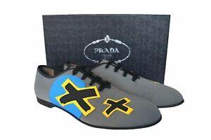 New Authentic PRADA Mens Shoes Gray Sz US10 EU43 UK9 2EG158