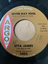 "Northern Soul 45/ Etta James ""Seven Day Fool""   Argo  VG++  Hear"