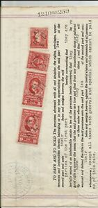 $10 and $5 Missouri documentary revenue stamps, etc., on 1958 warranty deed