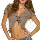 New Sexy Women's Short Cardigan Bolero Knit Top Jumper Jacket Size 6 8 10 XS S M
