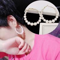 Perlen Ohrringe für Frauen Kunstperlen Weiß Gold Ohrhänger Ohrstecker Trend Mode