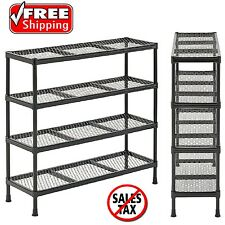 Garage Storage Cabinets 4 Shelf Drawer Rack Tool Organizer Welded Wire Shelving