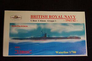 HP Models  Brit. U-Boot der U-Klasse 1. Gruppe HMS Utmost -1941/42-  1:700 Resin