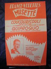 Partition Coucouricouli Misunderstanding The Copains Onesimus Work 1960 Music