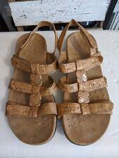 Vionic Womens Rest Amber Gold Cork Size 8 sandals comfort