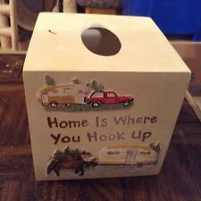 Tissue box cover camping theme