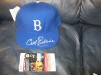 Carl Erskine Autographed Baseball Hat JSA Certified with Tag