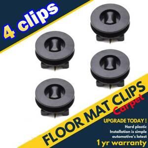 4X Universal Floor Mat Clips Carpet Fixing Retainer Hook For VW Toyota Renault