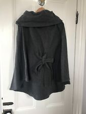Isabella Oliver Maternity Poncho Sweater Small Gray