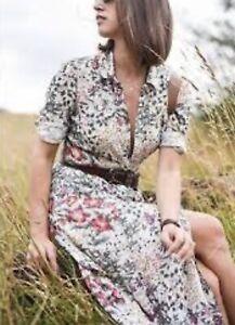 zara ecru Floral Maxi Dress As Seen On Kate Middleton Size Small