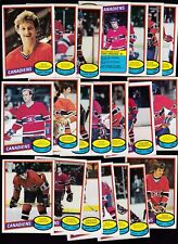 1980 OPC Team LOT of 21 Montreal CANADIENS NM o-pee-chee LANGWAY (R) LaFLEUR