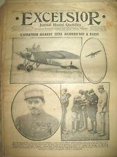 WW1 N° 2027 AVIATION EVASION PILOTE GILBERT TREBIZONDE SCAPHANDRE EXCELSIOR 1916