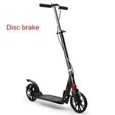 Two Wheels Folding Kick Scooter For Adults Portable Adjustable With Disc Brake