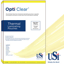 """Opti Clear Thermal (Hot) Laminating Pouches Menu Size 5 Mil 12x18"""" 100 Pouches"""