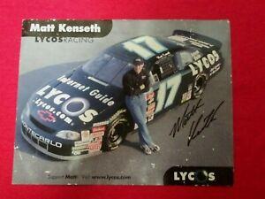 """NASCAR Matt Kenseth Autographed Picture 8.5"""" x 10&7/8"""" LYCOS RACING — No COA"""