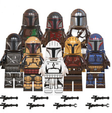 8 Pcs Star War Baby Yoda Mandalorian Minifigures Jango Fett Boba Fett Lego MOC