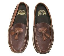 Cabela's Men 10D Loafers Moccasins Slip-On Brown Leather Tassels Leather Sole