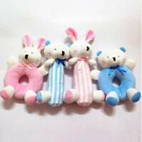 Cartoon Animal Plush Developmental Toy Bed Kids Baby Hand Soft Toys Rattle S