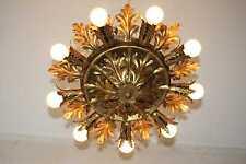 60er 70er Lampe Messing gold Flower Sputnik Kögl Ära Florentiner ceiling lamp