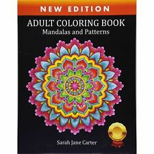 Mandala Adult Colouring Book Relaxing Color Therapy Stress Relief Calm Piece Art