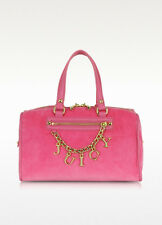 JUICY COUTURE PINK ICONIC CHARM VELOUR STEFFY BAG ORG. $178.00 BNWT