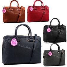 Women Large Leather Multiple Pocket Office School College Bag Laptop Bag