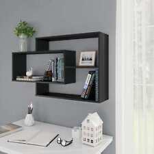 vidaXL Wall Shelves Black 104x20x60 Cm Chipboard