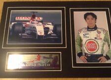 Takuma Sato F1 Driver BAR Honda F1 Team Professional Images Ready To Frame