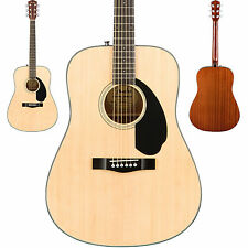 Fender CD-60S Acoustic Guitar Solid Spruce Top In Natural Finish Dreadnought NEW